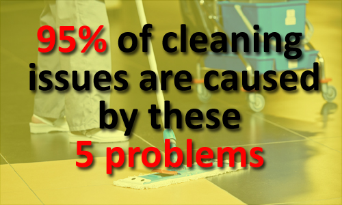 95 percent of issues caused by 5 problems